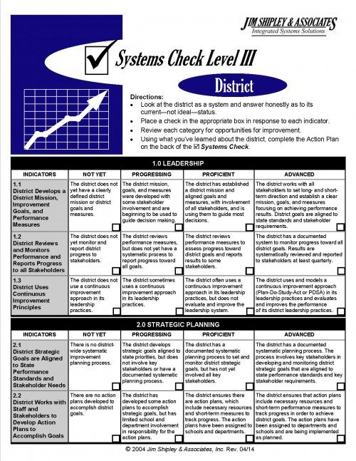SC3Dst_0414 - District Systems Check Level III 0414 Cover Image