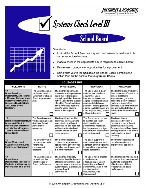 SC3SB - School Board Systems Check III Cover Image