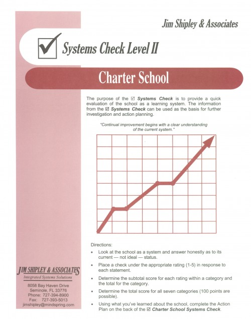 SCCS - Charter School Systems Check II Cover Image