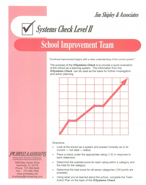 SCSIT - School Improvement Team Systems Check Cover Image