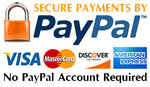 PayPal Payments and Credit Card Payments Accepted