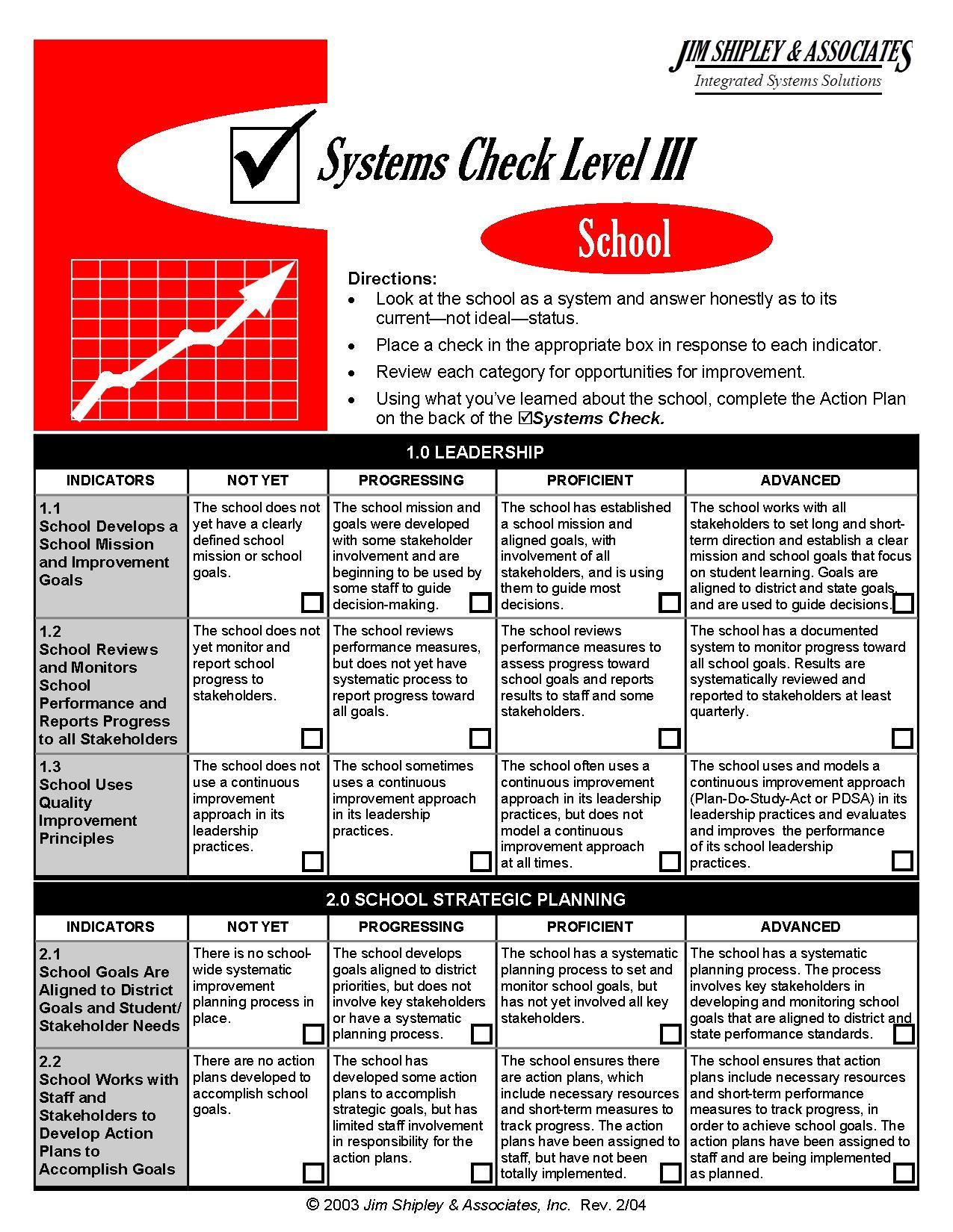 SC3School - School Systems Check III Cover Image