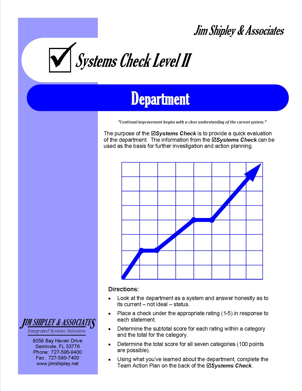 SCD - Department Systems Check II Cover Image