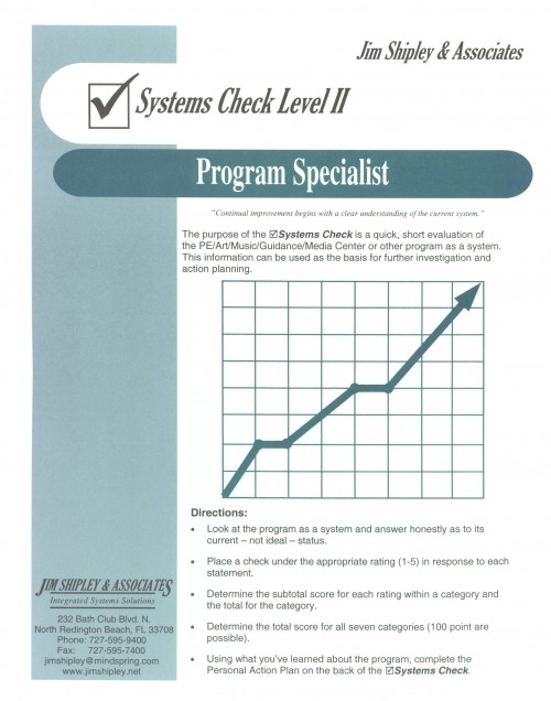 SCPS - Program Specialist Systems Check II Cover Image