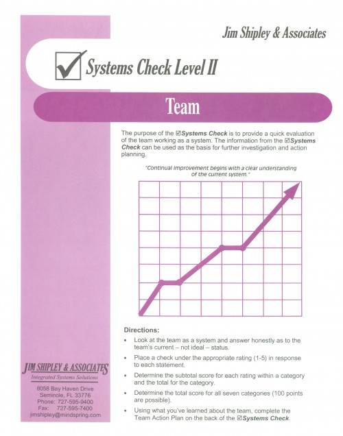SCT - Team Systems Check Cover Image